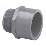 Sch40 Grey Male Adapter MPT x Slip - 1/2