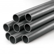 Sch40 Grey PVC Pipe - 1/2 x 2.5 ft